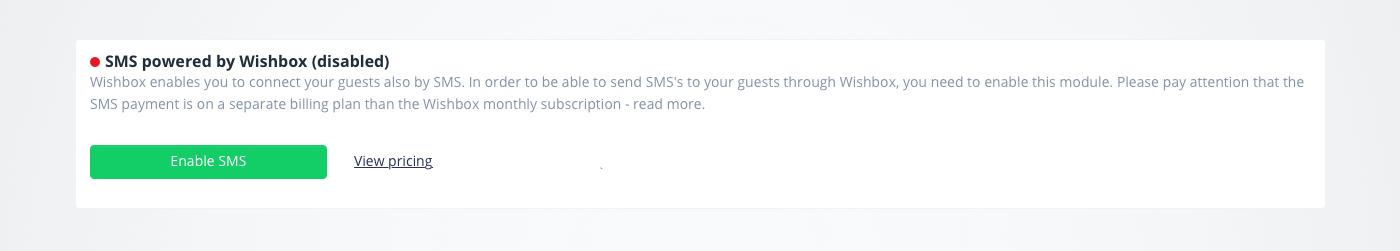 SMS - Powered by Wishbox - Wishbox support